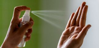 Использование антисептика для рук