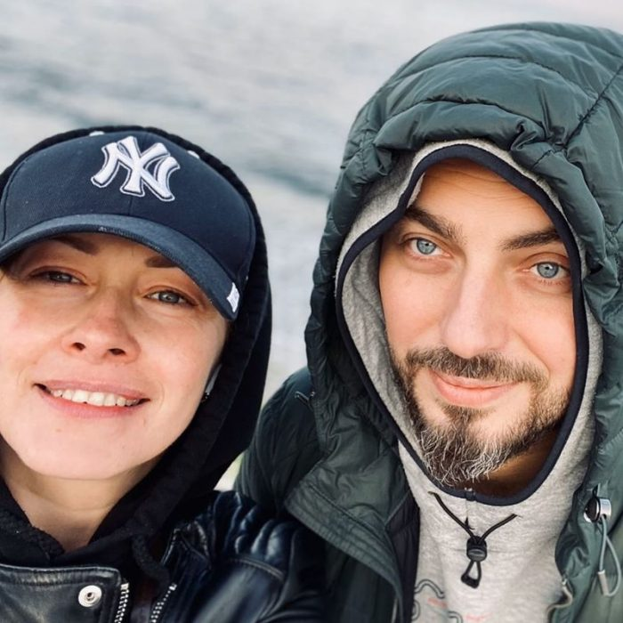 Елена Кравец с мужем