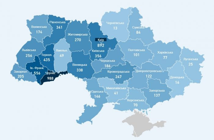 Количество заболевших COVID-19 в Украине сводка МОЗ на 21 апреля