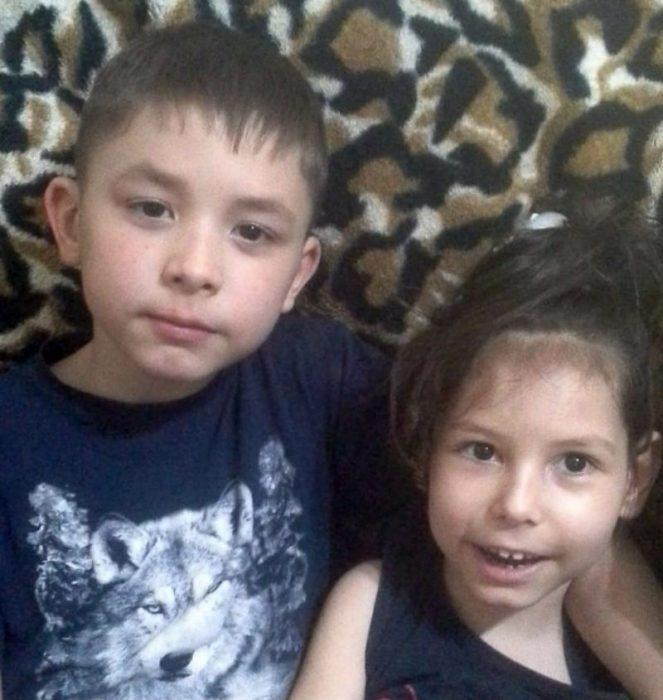 Ратмір Жангурбаев з сестрою Діаною