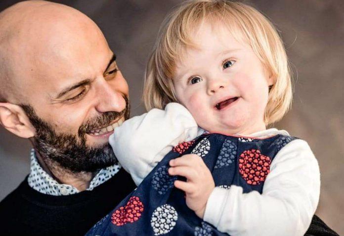 Лука Трапанезе с приемной дочерью Альбой
