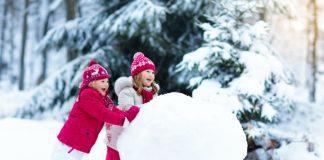 Діти ліплять сніговика
