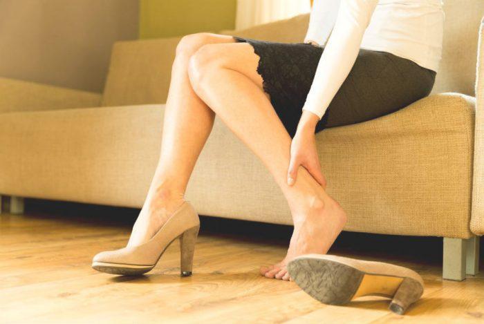Боль в ногах после хождения на каблуках