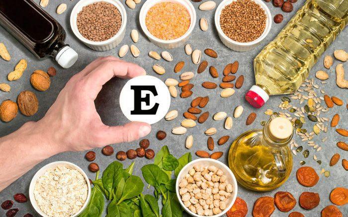 Продукты с богатым содержанием витамина E
