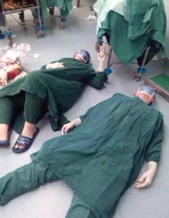 Врачи избольницы в китайской провинции Фуцзянь