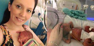 Хейлі Малтон з новонародженою дочкою Ліллі