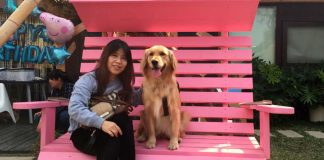 Собака Кими со своей хозяйкой