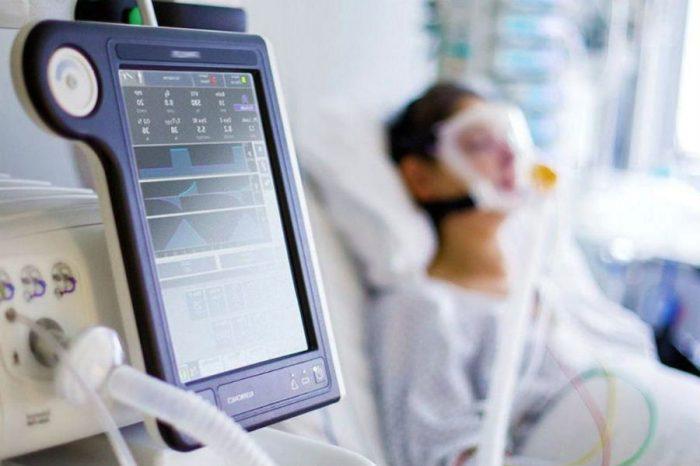 Пациент на аппарате ИВЛ