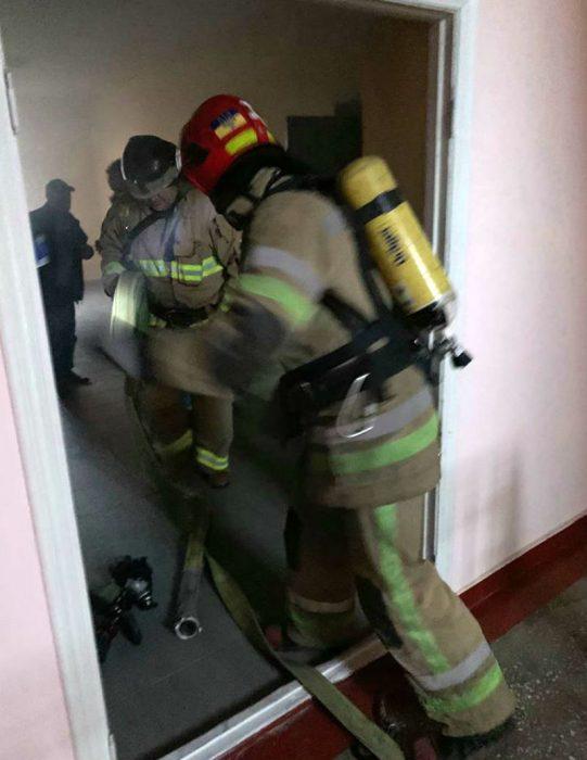 Пожарники в Александровской больнице