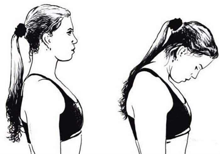 Наклоны головы к груди