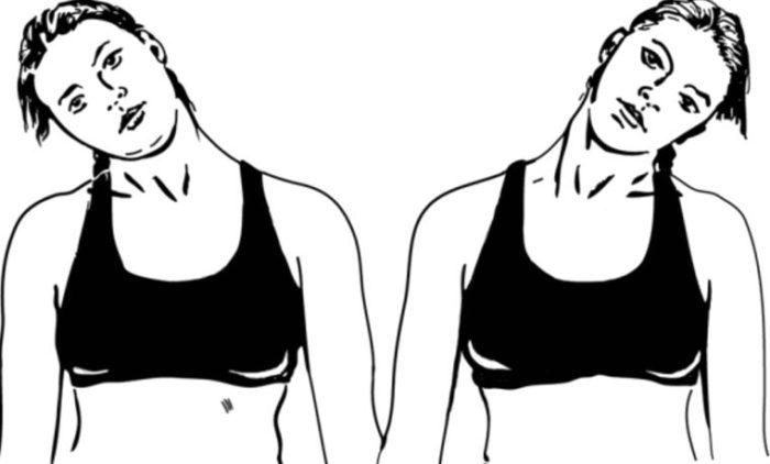 Наклоны головы к плечу