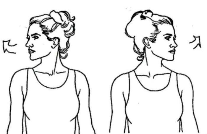 Повороты головы к плечу