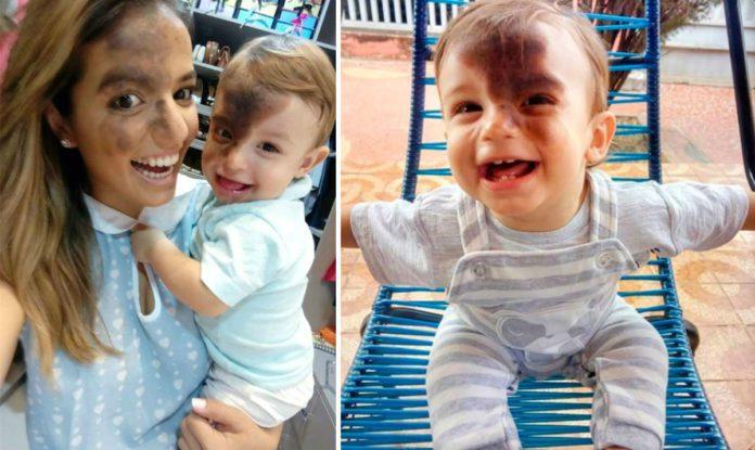 Кароліна Джіральделлі з сином Енцо