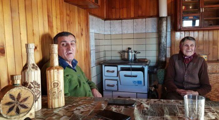 Олга с Предрагом у себя на кухне