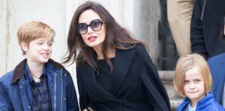 Анджелина Джоли с дочерьми Шайло и Вивьен