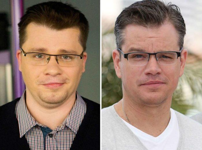 Гарик Харламов и Мэтт Деймон