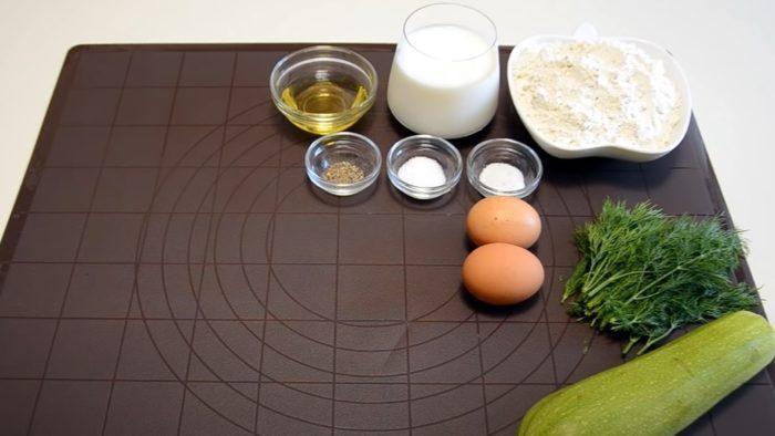 Ингредиенты для кабачкового торта