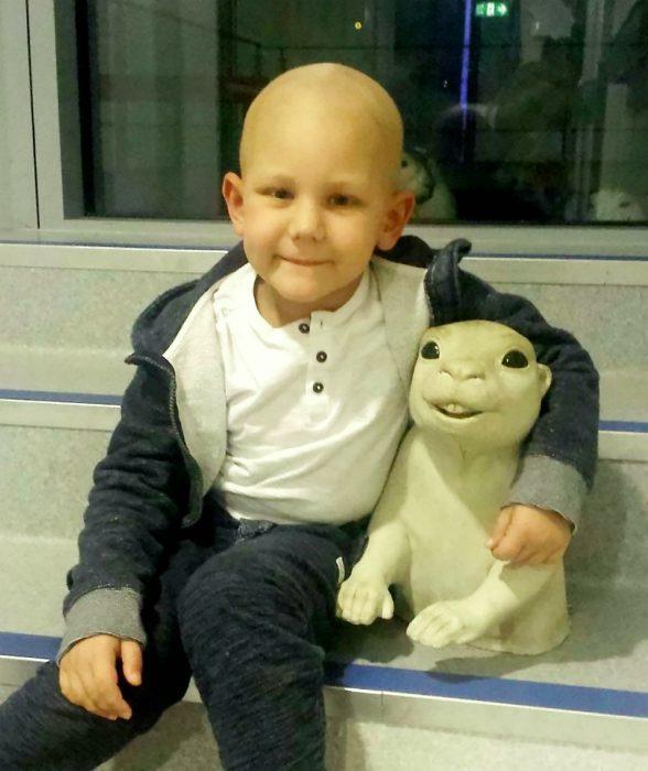 Джулиан после химиотерапии