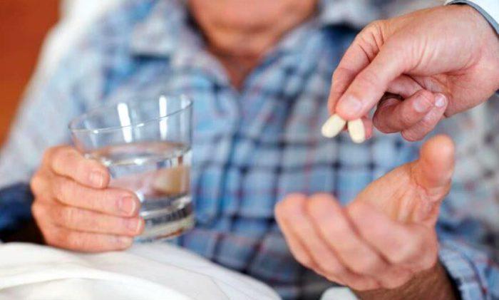 Прием лекарств от повышенного давления