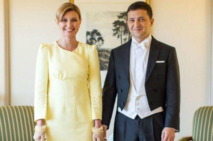Президент Украины Владимир Зеленский с первой леди Еленой Зеленской