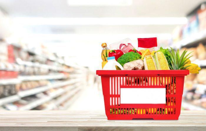 Купленные в супермаркете продукты