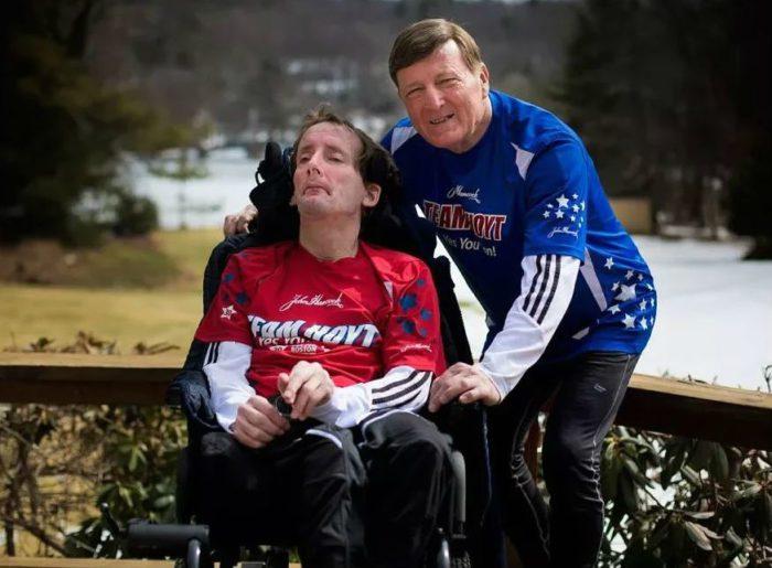 Дик и Рик Хойты на завершении своей спортивной карьеры