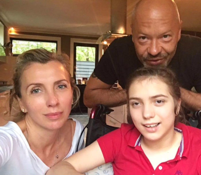 Федор Бондарчук с бывшей женой и их дочерью Варей