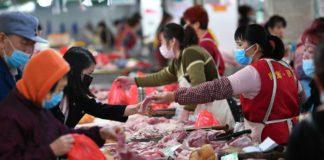 Продуктовый рынок в Китае