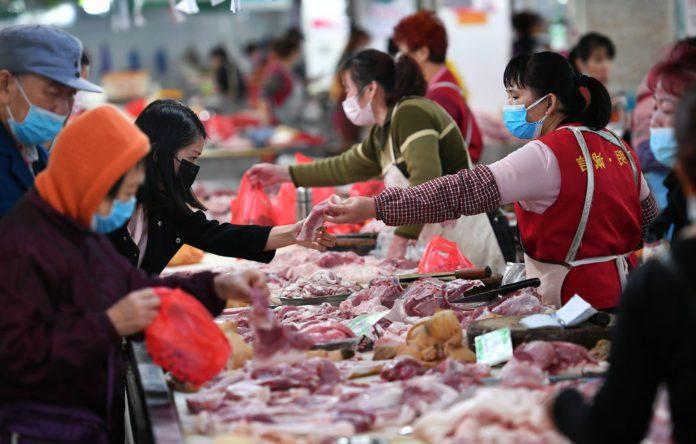 Продуктовий ринок в Китаї