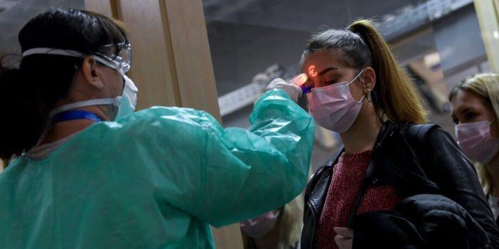 Проверка температуры во время пандемии COVID-19