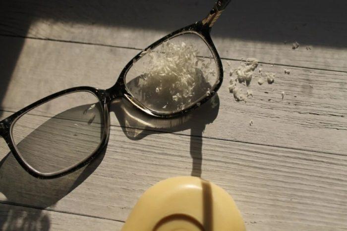 Мыльная стружка предотвратит запотевание