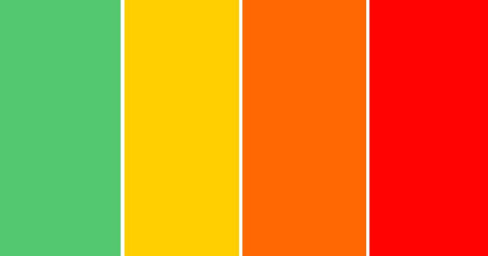 Цветовые зоны карантина