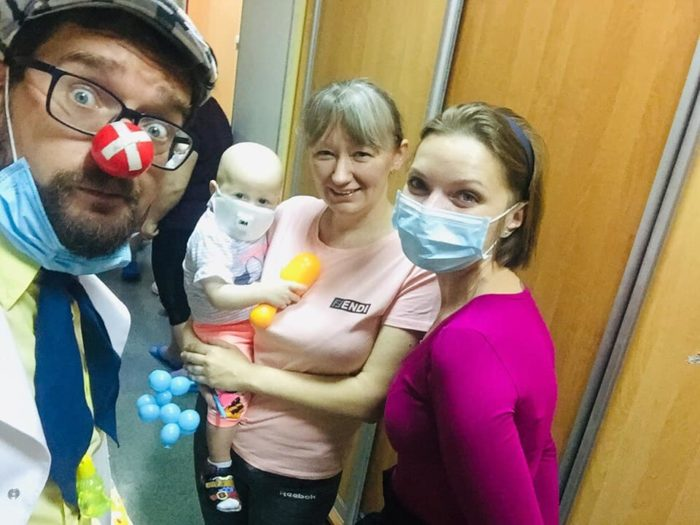 Наталия с Анютой во время прохождения химиотерапии