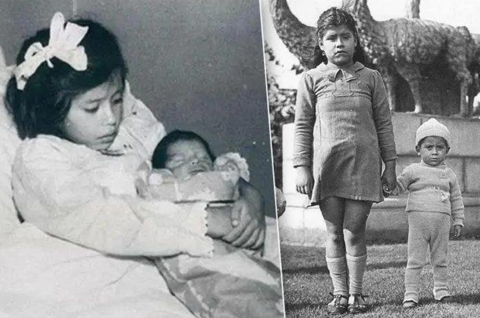 Лина Медина с сыном Херардо