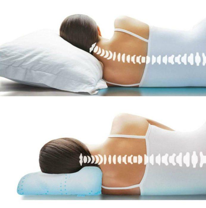 Слишком высокая подушка искривляет позвоночник