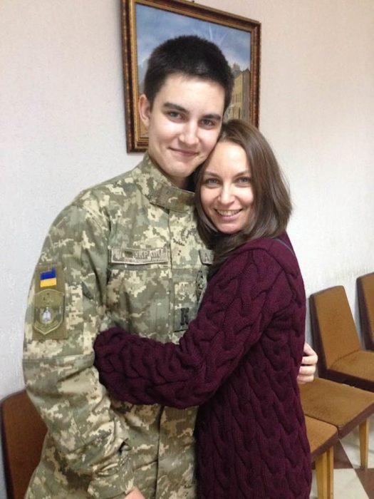 Лариса Созаева с сыном