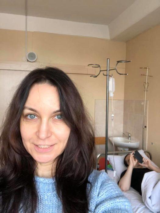 Лариса Созаева вместе с сыном в больнице