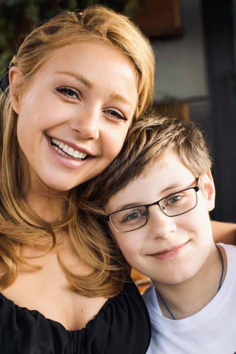 Тина с сыном Вениамином