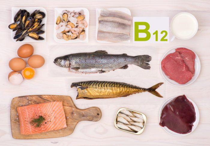 Продукты питания богатые на В12