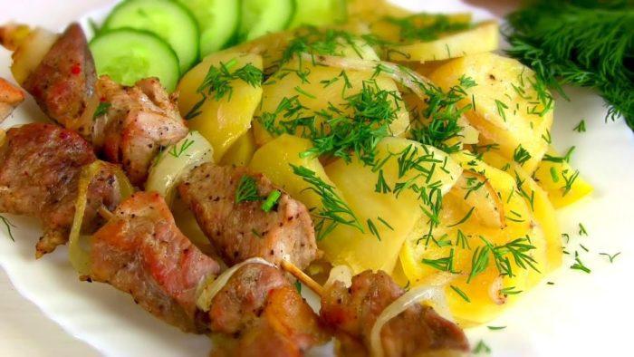 Картошка с шашлыком — идея не лучше