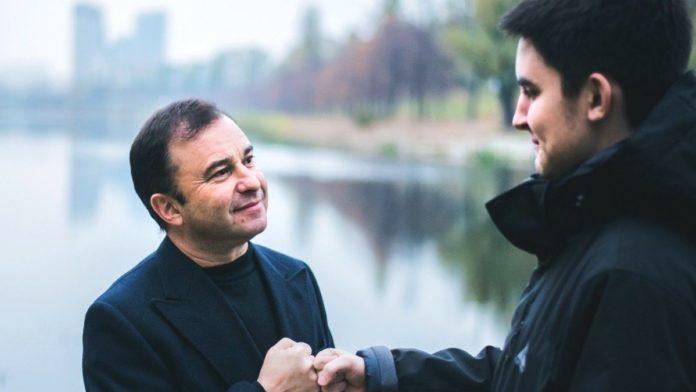 Виктор Павлик с сыном Павлом