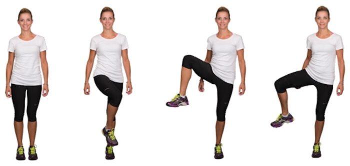 Вращения согнутыми ногами