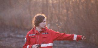 Волонтёры на пожаре