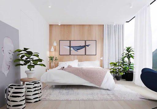 Домашние растения в спальне